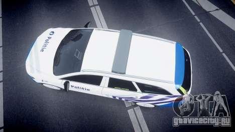 Ford Fusion Estate 2014 Belgian Police [ELS] для GTA 4 вид справа