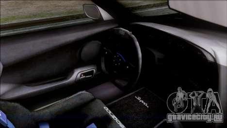 Toyota Supra 1999 Tina Sprout Itasha для GTA San Andreas вид справа
