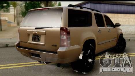 Chevrolet Suburban 4x4 для GTA San Andreas вид слева
