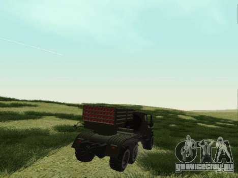 Урал 375 РСЗО Град для GTA San Andreas вид сзади