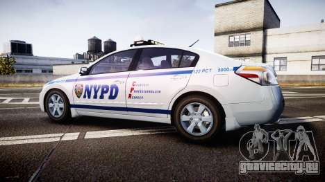 Nissan Altima Hybrid NYPD для GTA 4 вид слева