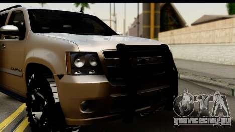 Chevrolet Suburban 4x4 для GTA San Andreas вид сзади слева