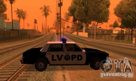 Beta LVPD Police для GTA San Andreas вид справа