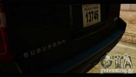 Chevrolet Suburban 2010 FBI для GTA San Andreas вид сзади