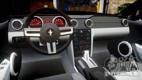 Ford Mustang Convertible Mk.V 2008 для GTA 4 вид сзади