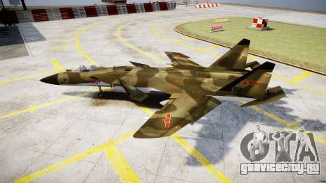 Су-47 Беркут forest для GTA 4 вид слева