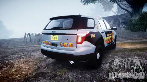 Ford Explorer Police Interceptor [ELS] marked для GTA 4 вид сзади слева