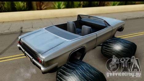 Monster Blade для GTA San Andreas вид сзади слева