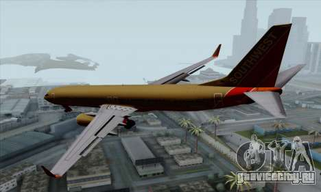Boeing 737-800 Southwest Gold для GTA San Andreas вид слева