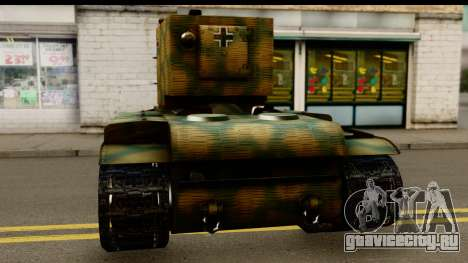 KV-2 German Captured для GTA San Andreas вид сзади слева