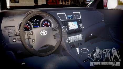 Toyota Hilux SW4 2015 для GTA 4 вид сзади