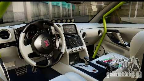 Nissan GT-R Dragster для GTA San Andreas вид изнутри