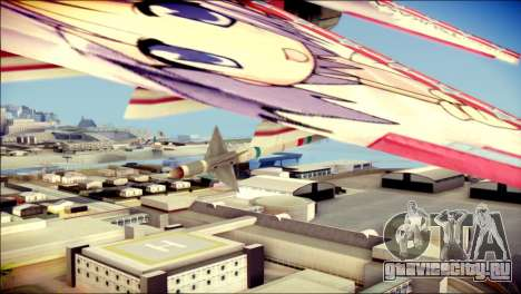 MIG-29 Shrine Maiden Hiragi для GTA San Andreas вид справа