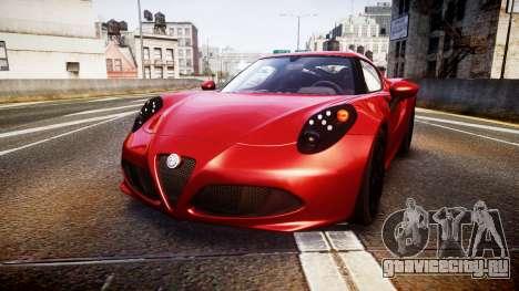Alfa Romeo 4C 2014 для GTA 4