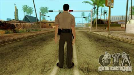 Depurty Alex Shepherd Skin without Flashlight для GTA San Andreas второй скриншот