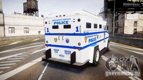 GTA V Brute Police Riot [ELS] skin 4 для GTA 4 вид сзади слева