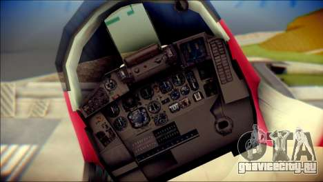 MIG-29 Shrine Maiden Hiragi для GTA San Andreas вид сзади