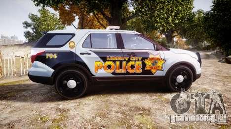 Ford Explorer Police Interceptor [ELS] marked для GTA 4 вид слева