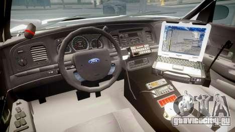 Ford Crown Victoria LCPD Unmarked [ELS] для GTA 4 вид сзади