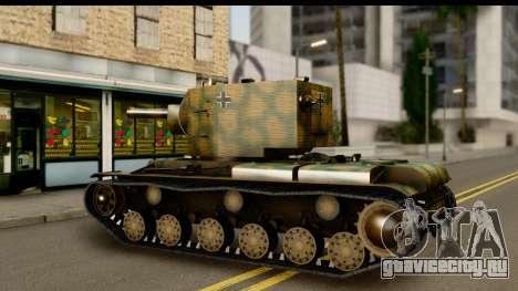 KV-2 German Captured для GTA San Andreas вид справа