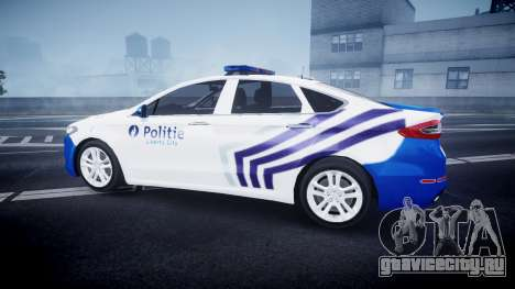 Ford Fusion 2014 Belgian Police [ELS] для GTA 4 вид слева