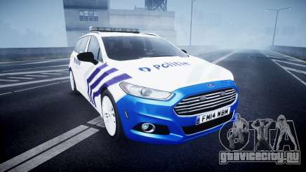 Ford Fusion Estate 2014 Belgian Police [ELS] для GTA 4