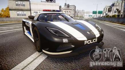Koenigsegg Agera 2013 Police [EPM] v1.1 PJ3 для GTA 4