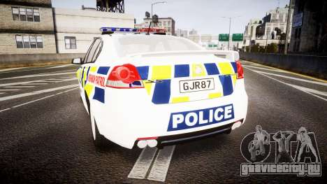 Holden VE Commodore SS Police HWP [ELS] для GTA 4 вид сзади слева