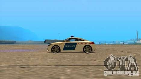 Ауди ТТ РС 2011 венгерской полиции для GTA San Andreas вид слева