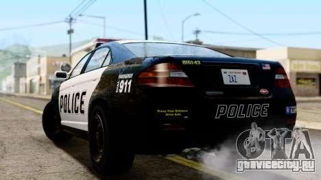 GTA 5 Vapid Police Interceptor v2 IVF для GTA San Andreas вид слева