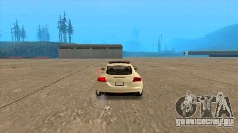 Ауди ТТ РС 2011 венгерской полиции для GTA San Andreas вид сзади слева