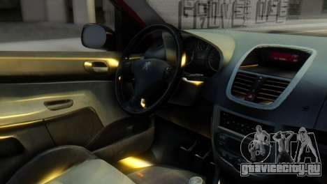 Peugeot 206 TowTruck для GTA San Andreas вид справа