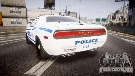 Dodge Challenger LCPD [ELS] для GTA 4 вид сзади слева