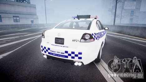 Holden Commodore Omega NSWPF [ELS] для GTA 4 вид сзади слева