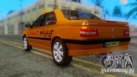 Peugeot 405 Slx Taxi для GTA San Andreas вид слева