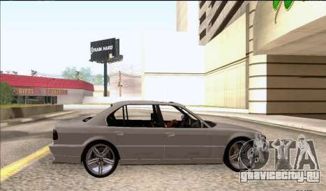 BMW 750iL для GTA San Andreas вид сзади слева