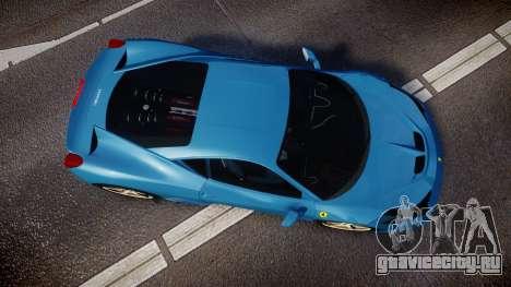 Ferrari 458 Speciale 2014 для GTA 4 вид справа