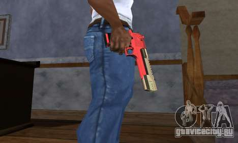 Black and Red Deagle для GTA San Andreas
