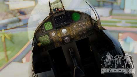 F-15C Eagle Luftwaffe JG 73 для GTA San Andreas вид сзади