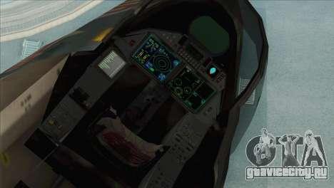 Sukhoi SU-35BM Mobius Squadron для GTA San Andreas вид сзади