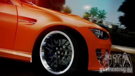 BMW M3 E92 Hamman для GTA San Andreas вид справа
