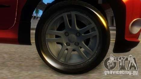 Peugeot 206 TowTruck для GTA San Andreas вид сзади слева