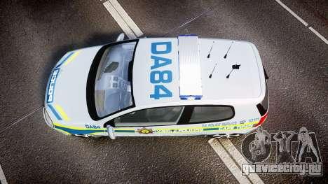Volkswagen Golf South African Police [ELS] для GTA 4 вид справа