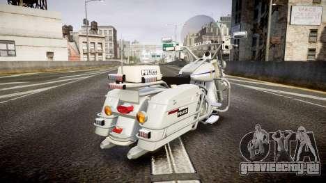 Harley-Davidson FLH 1200 SPVQ [ELS] для GTA 4 вид сзади слева