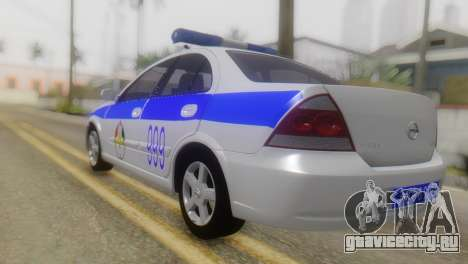 Nissan Almera Iraqi Police для GTA San Andreas вид слева