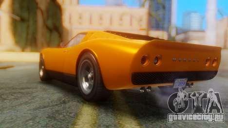 GTA 5 Pegassi Monroe для GTA San Andreas вид слева