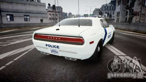 Dodge Challenger Homeland Security [ELS] для GTA 4 вид сзади слева
