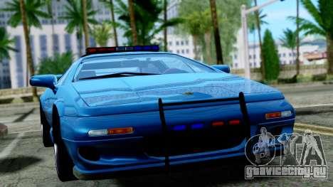 Lotus Esprit S4 V8 1998 Police Edition для GTA San Andreas вид справа