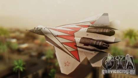 T-50 PAK-FA -Akula- для GTA San Andreas вид слева