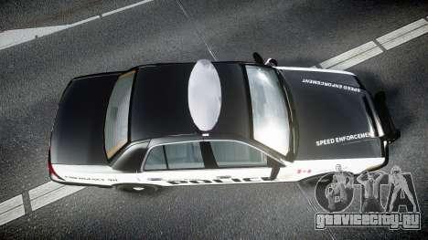 Ford Crown Victoria Alderney Police для GTA 4 вид справа